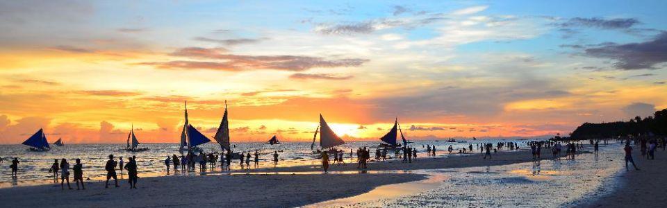 Sun Set in Boracay Beach, Philippines