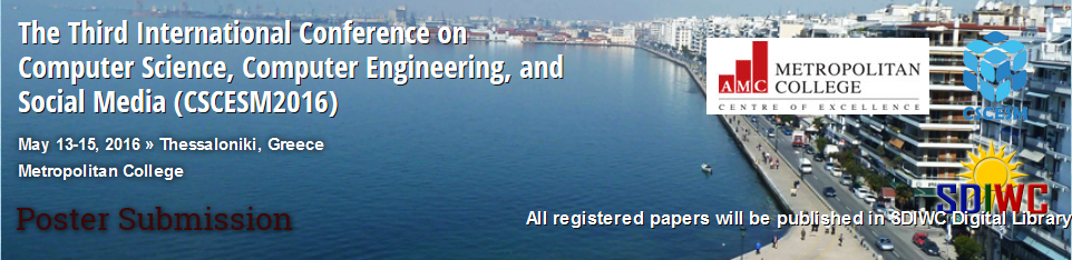 The Third International Conference on Computer Science, Computer Engineering, and Social Media